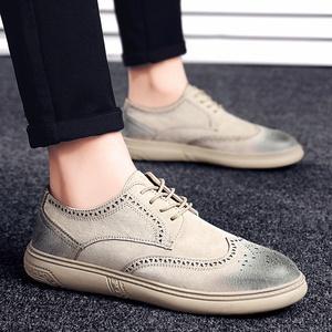 Peas shoes men's shoes winter tide shoes 2019 new men's casual Brock shoes men's Korean business shoes men