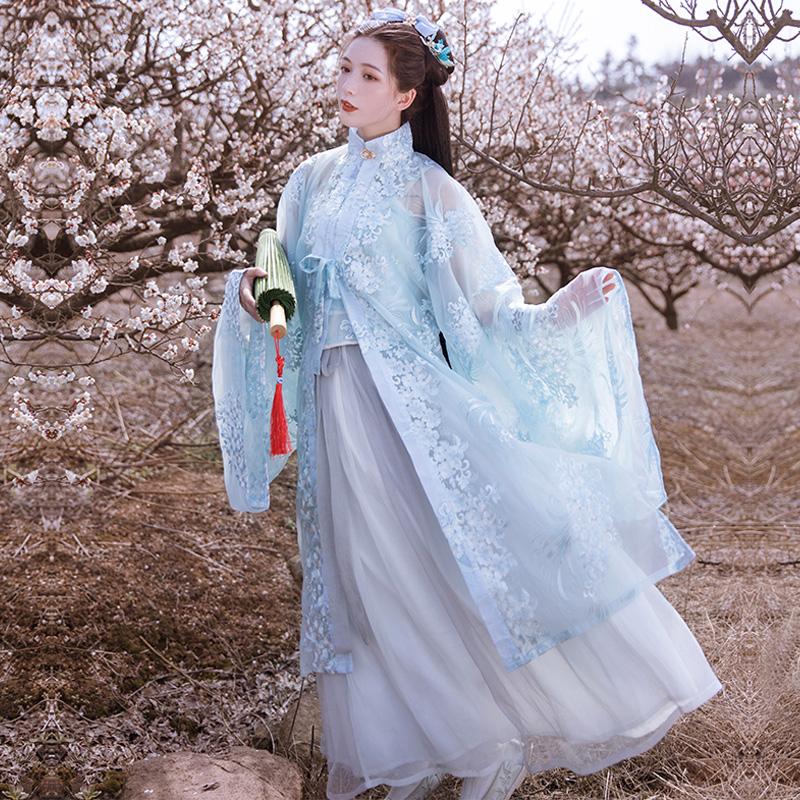 言然清辞原创汉服女正品中国风明制立领汉裙日常可穿超仙非古装夏
