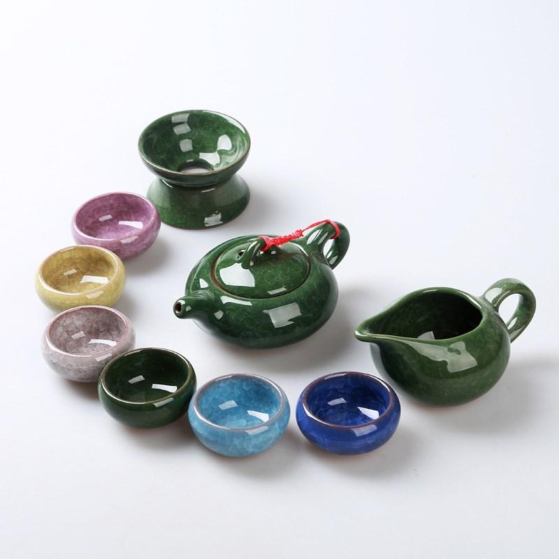 冰裂茶具套装功夫茶具套装陶瓷茶具茶杯茶道茶壶套装家用简约