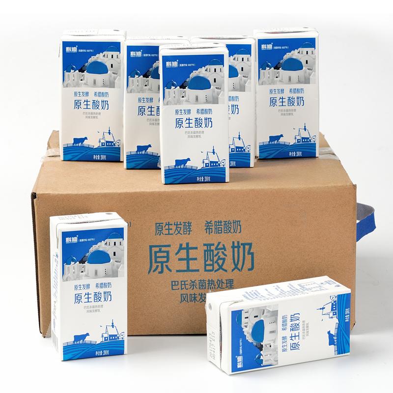 科迪原生酸奶216g*24盒 乳酸菌益生菌浓缩原味熟酸奶促销整箱盒装