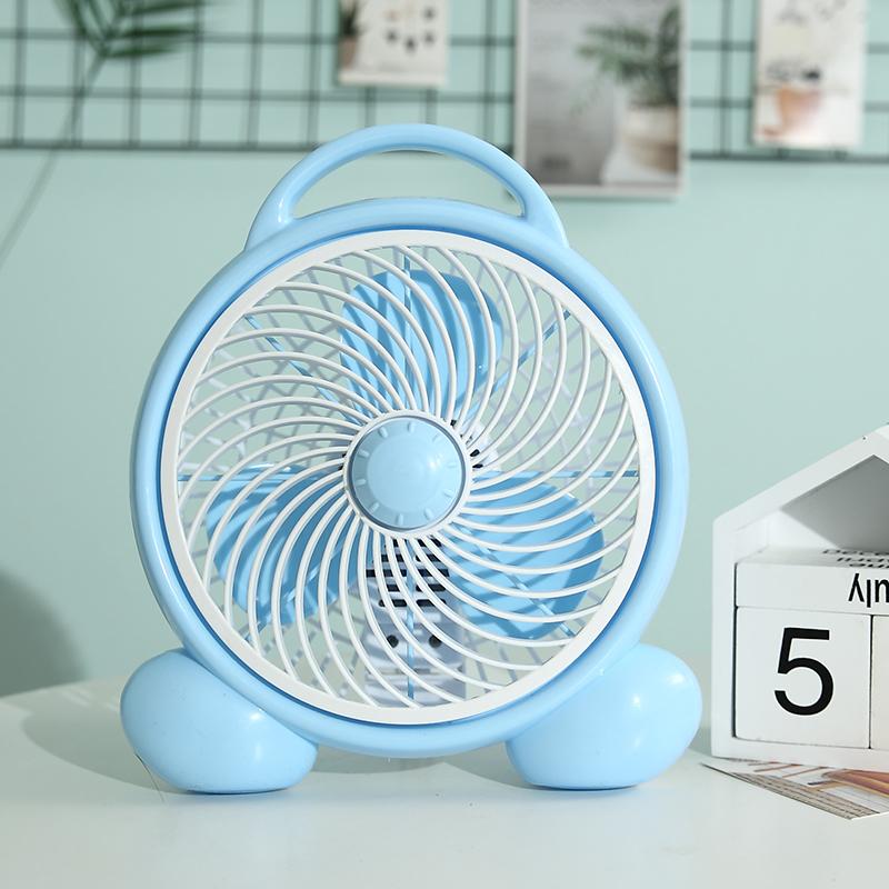 祥珑办公室桌面静音迷你小风扇学生宿舍寝室床上电风扇台式台扇