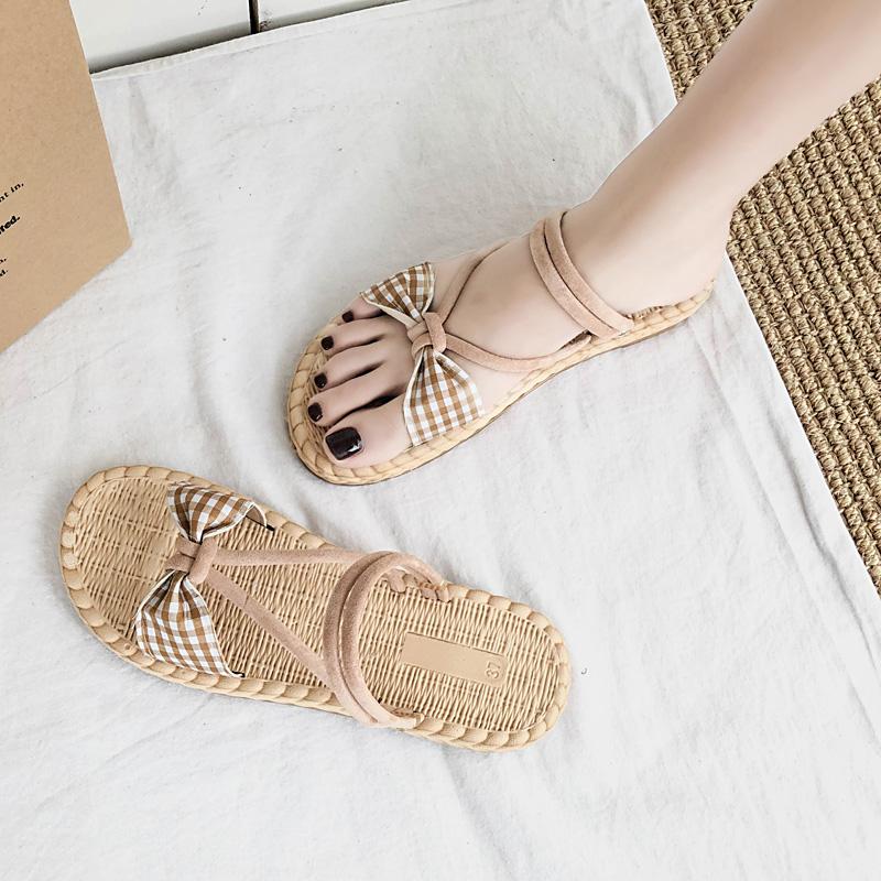 少女心两穿凉拖鞋女夏2019新款韩版百搭网红女鞋外穿厚底沙滩鞋