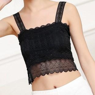 束胸超薄女内衣学抹胸薄款百搭美胸背心性感裹胸紧身 超紧显胸小图片