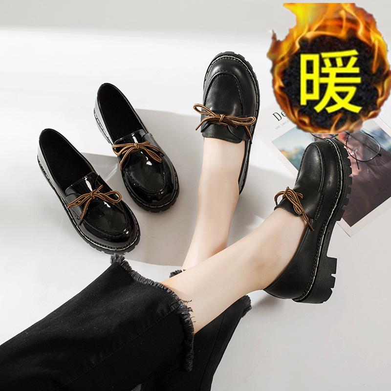 点击查看商品:英伦复古学生单鞋粗跟黑色小皮鞋女韩版百搭一脚蹬乐福鞋休闲女鞋