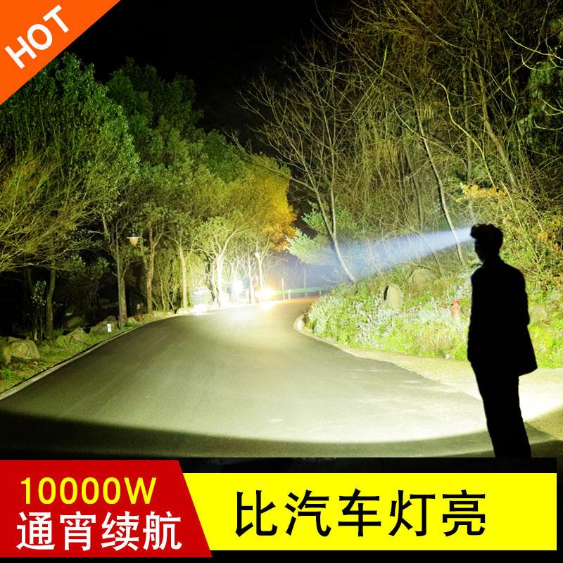 LED锂电头灯强光充电超亮头戴式感应夜钓手电筒钓鱼超长续航矿灯