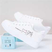 (小)白鞋女大th2春秋透气an韩款可爱平底板鞋休闲跑步运动鞋子