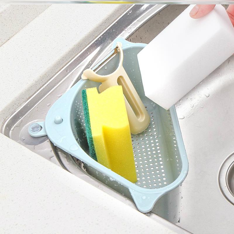 厨房剩菜沥水篮塑料汤汁剩菜剩饭过滤器三角形水槽厨房残渣过滤架