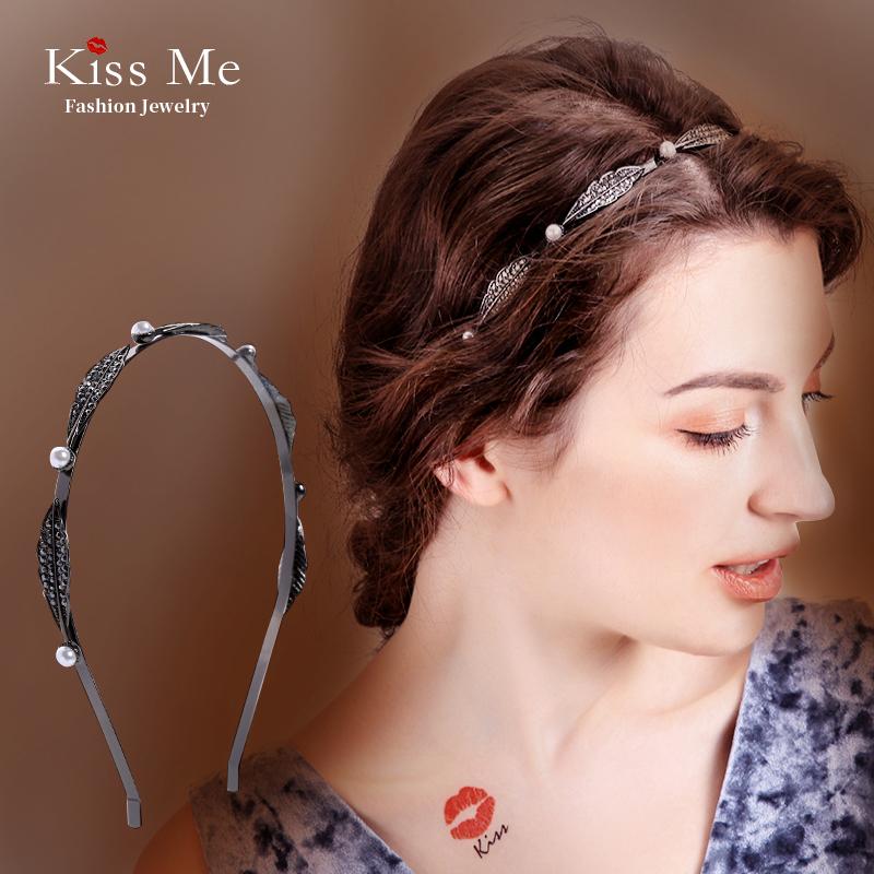 Kissme发箍压头发女超仙发卡头饰夹子简约百搭韩国头箍网红头饰品