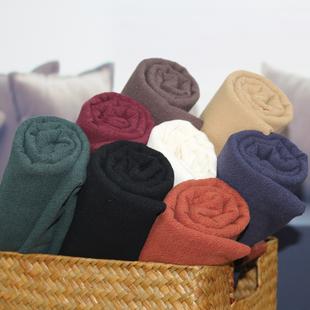 秋冬加厚苎麻棉面料料砂洗复古做风衣汉服的亚棉麻布料厚实粗麻布