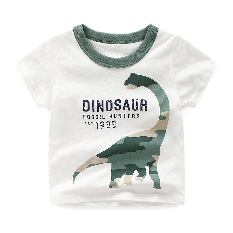 儿童短袖T恤全棉 夏新款童装男童短袖体T恤衫 宝宝卡通T恤1001
