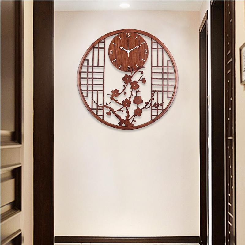 挂钟客厅家用时尚中国风挂墙时钟挂表艺术装饰简约新中式创意钟表