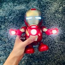 会跳舞的钢铁侠机器人抖音同款玩具漫威系列灯光音乐电动儿童礼物