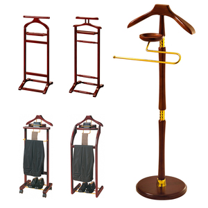 Hotel creative suite floor coat hat rack solid wood clothes hanger household room luxury wooden can be invoiced