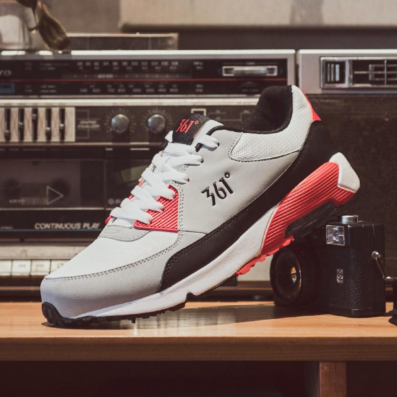 361男鞋运动鞋休闲鞋新款正品气垫减震跑步鞋女361度皮面复古跑鞋