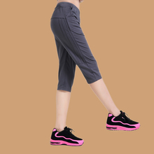 运动七分裤女宽松夏季薄款透气瑜伽kp13干显瘦np闲哈伦中裤
