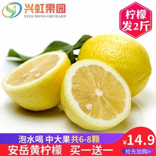 安岳黄柠檬新鲜水果泡水柠檬汁现摘蜂蜜青柠檬水批发包邮买一送一