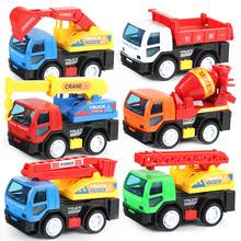 宝宝玩hf0车惯性回jw套装组合挖土车吊车搅拌挖掘机口袋玩具