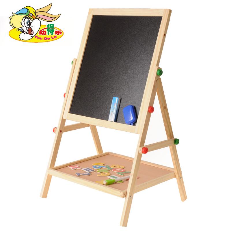 可升降画架支架式家用画画涂鸦写字板儿童宝宝画板双面磁性小黑板