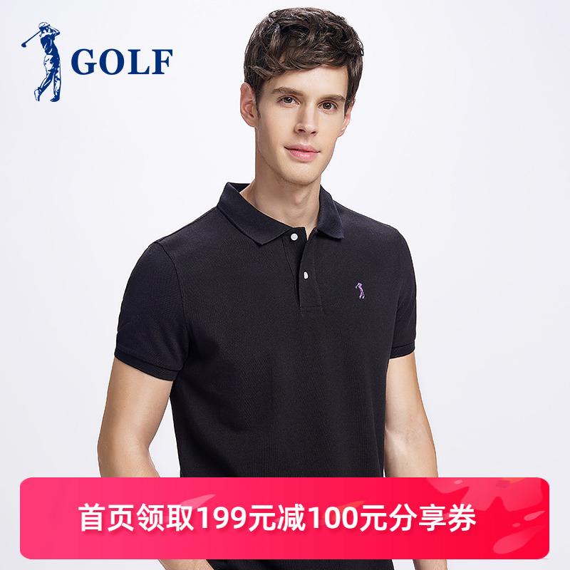 高尔夫GOLF2020春夏新品经典翻领休闲100%棉POLO衫短袖T恤男装