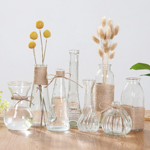 透明玻璃花瓶水培植yi6容器皿绿an瓶子干花插花摆件装饰花盆