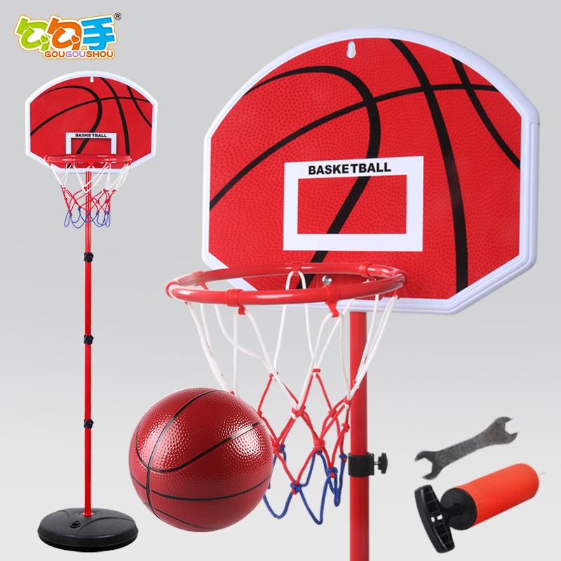 勾勾手儿童篮球架可升降室内投篮框宝宝家用男孩球类玩具1-7周岁9
