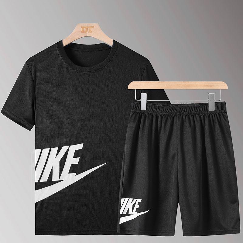 运动套装男夏季宽松舒适短袖T恤跑步休闲运动服两件套