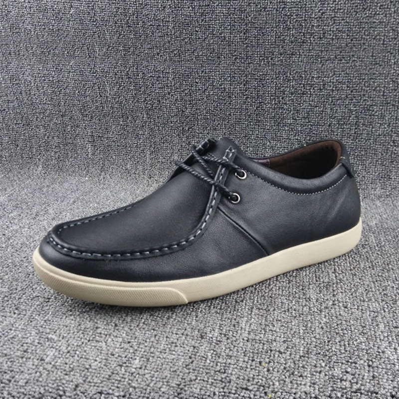 Spring foreign trade original single British leather trend men's shoes light casual soft leather soft sole cow leather shoes board shoes driving shoes