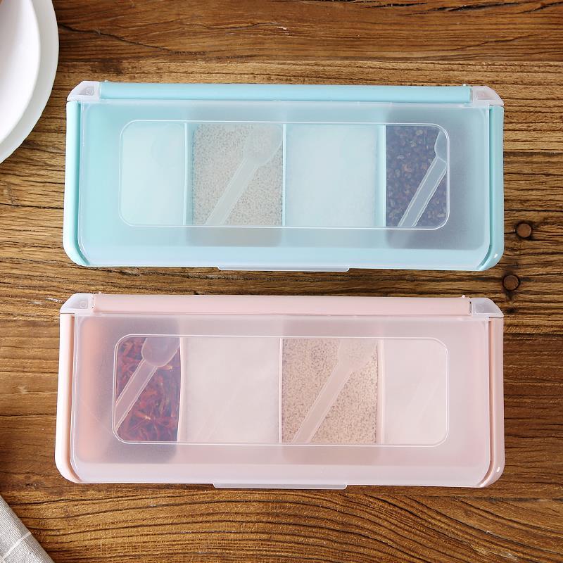 厨房装调料盒材料配料调理盒套装多功能有盖组合装家用盐糖式特价