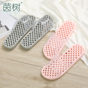 Bathroom slippers bathing female household summer massage non-slip hollow leaking cute net red four seasons home deodorant sandals