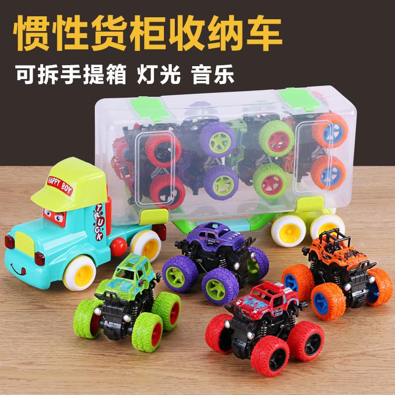 四驱越野车儿童男孩模型车抗耐摔惯性玩具车2-3-4-5岁宝宝小汽车