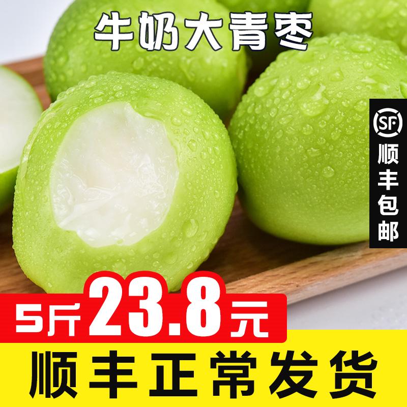 奶油青枣牛奶枣蜜脆 大10鲜枣小带箱5斤水果新鲜当季整箱冬枣顺丰