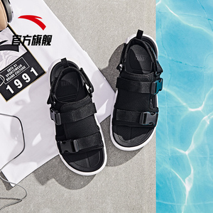 Anta sports sandals men's shoes 2019 new lace-up trend shoes outside pass soft bottom sports casual beach sandals
