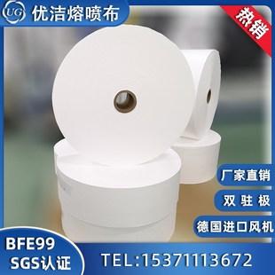 厂家直销口罩盐性油性熔喷布BFE99 PFE99 聚丙烯熔喷非纺织布