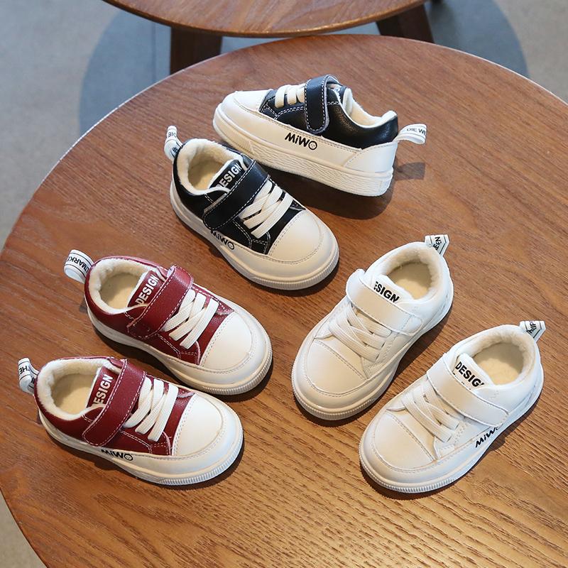 宝宝学步鞋女1-3岁加绒男儿童鞋子软底二棉鞋秋冬板鞋婴儿小白鞋2