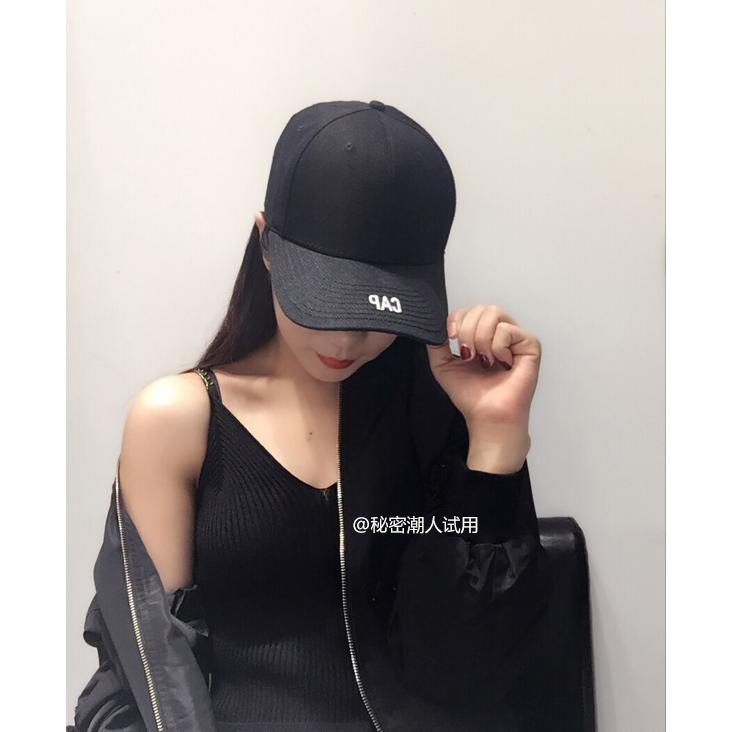 ins潮牌帽子男女通用韩版棒球帽黑色鸭舌帽弯檐帽嘻哈遮阳帽春夏