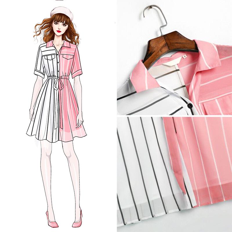 雪纺连衣裙2019新款夏气质高端女装潮收腰显瘦小个子流行裙子女年