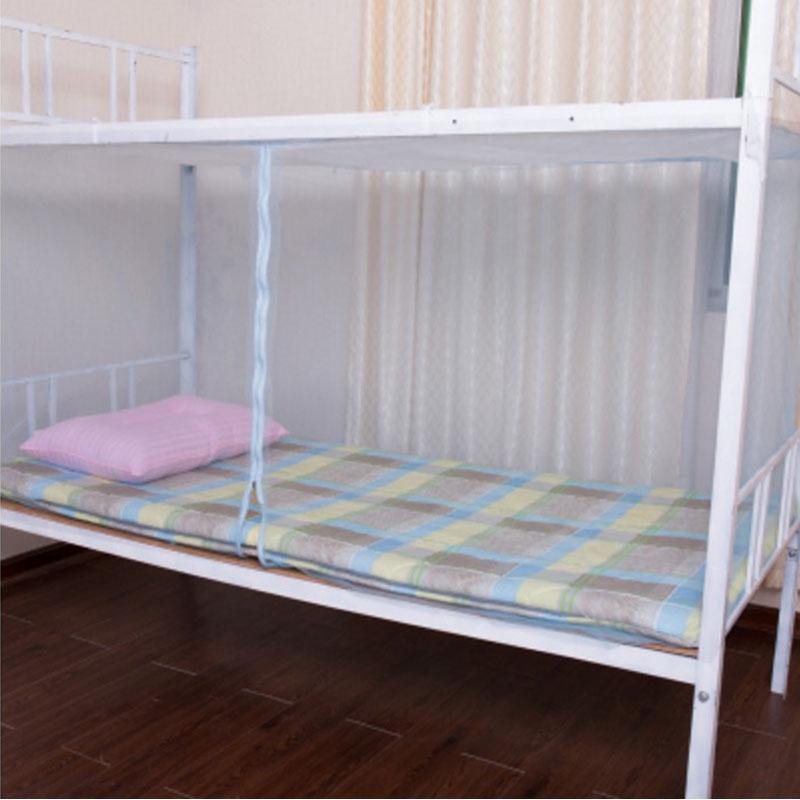 宿舍单人床蚊帐学生男上铺下铺带支架0.9宽90cm1.2m1.5一米长1.9