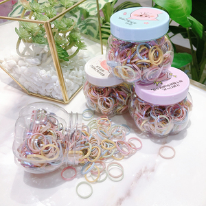 New Popular Boxed Small Rubber Band Net Holster Color Hair Ring Simple Thin Loop Hair Accessories Hairline