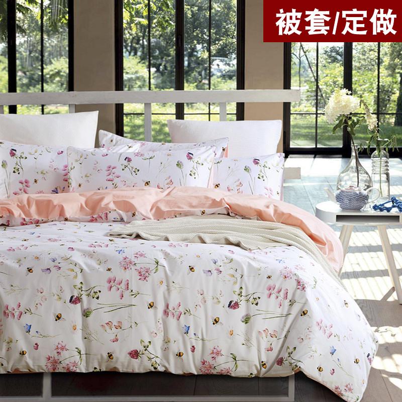 出口美式60支长绒棉贡缎全棉被罩纯棉单件被套