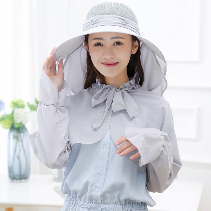 户外防晒大沿遮阳帽女夏 防紫外线折叠遮脸太阳帽出游骑车帽子