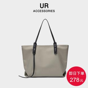 UR牛津布包包女2021新款潮质感大容量简约托特包购物袋单肩手提包