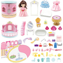 Children's toys for family Girls Birthday gifts girls 3-5 years old 6-7-8 Castle Princess Dreambaby dolls
