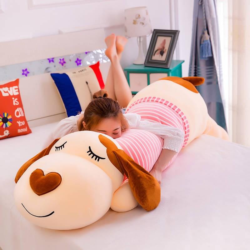 趴趴狗抱枕毛绒玩具狗狗公仔大号睡觉长条抱枕头可爱布娃娃男女生