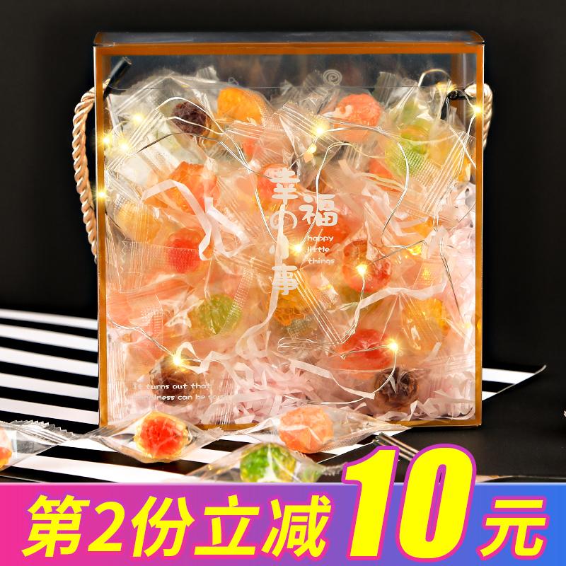 阿鸣哥创意网红情话表白糖果礼盒装高颜值奶糖小零食水果糖软糖