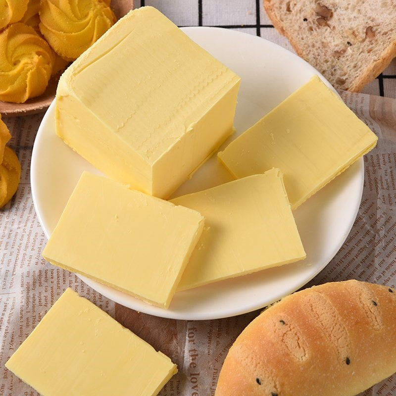 无盐食用起酥油块面包饼干材料奶油煎牛排家用500g黄油烘焙原料。