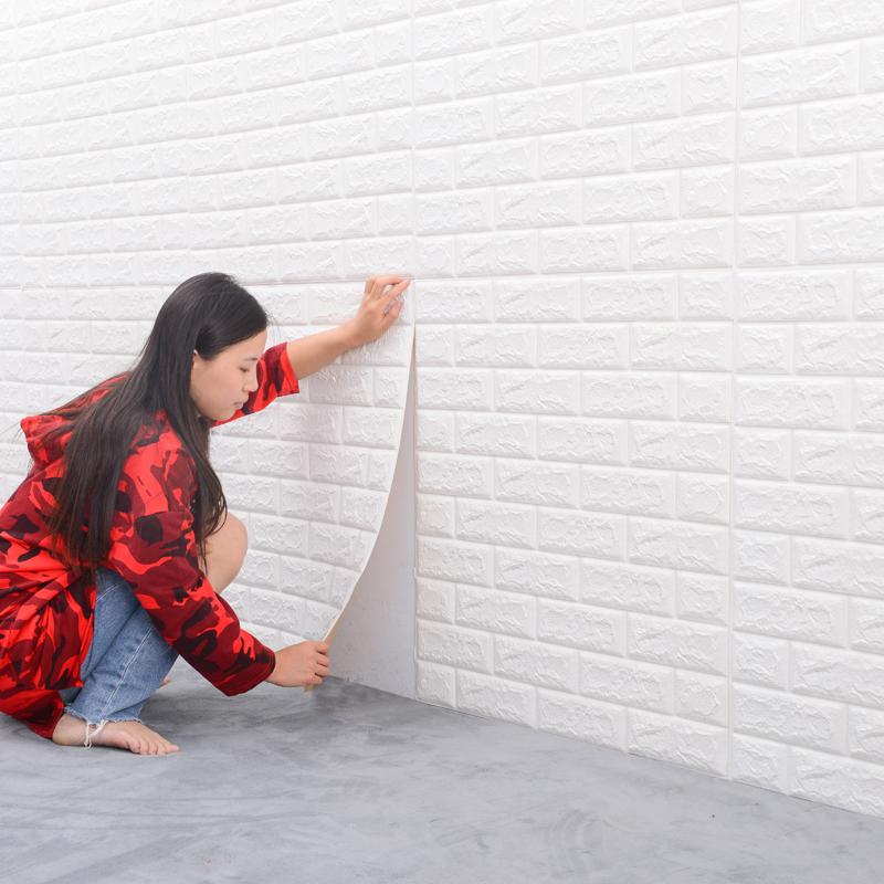 墙纸自粘3d立体墙贴水泥墙贴纸防潮防霉防水宝宝防撞墙贴墙壁贴纸
