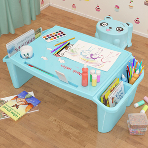 Baby Plastic Bed Small Desk Toddler Student Writing Study Table Child Multifunctional Toy Dining Small Table