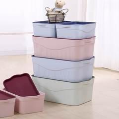 居家塑料收纳盒内衣服整理箱大中小号储物箱有盖玩具收纳储蓄箱子