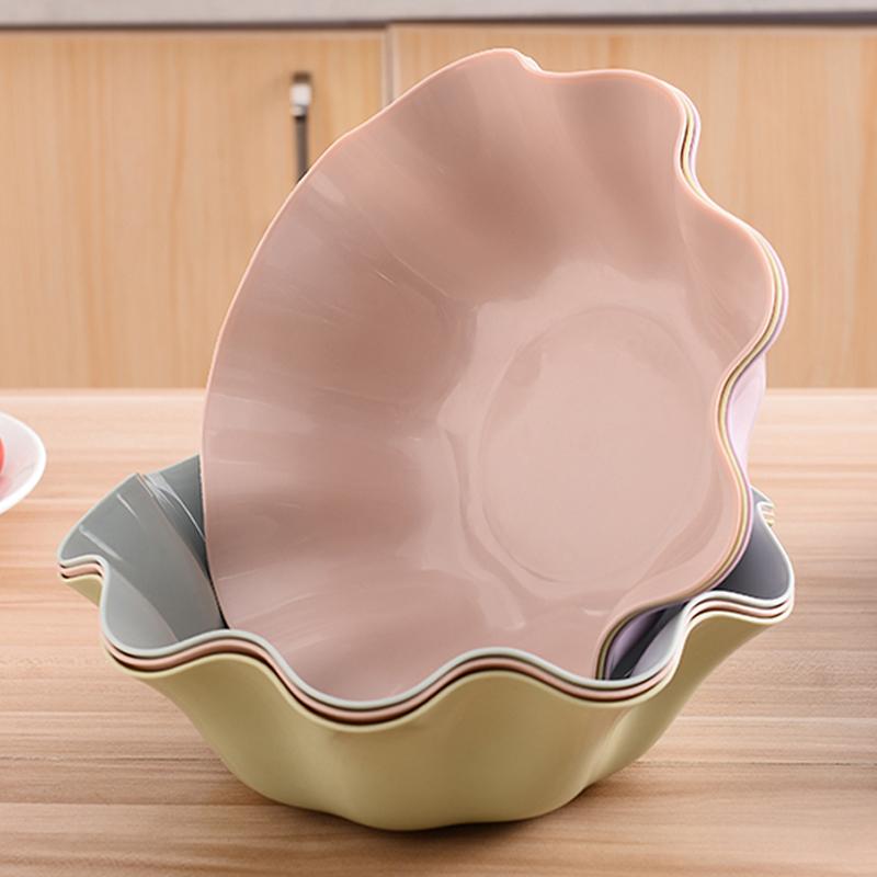 水果盘客厅家用北欧风格茶几零食盘现代糖果盘塑料创意小吃干果盘