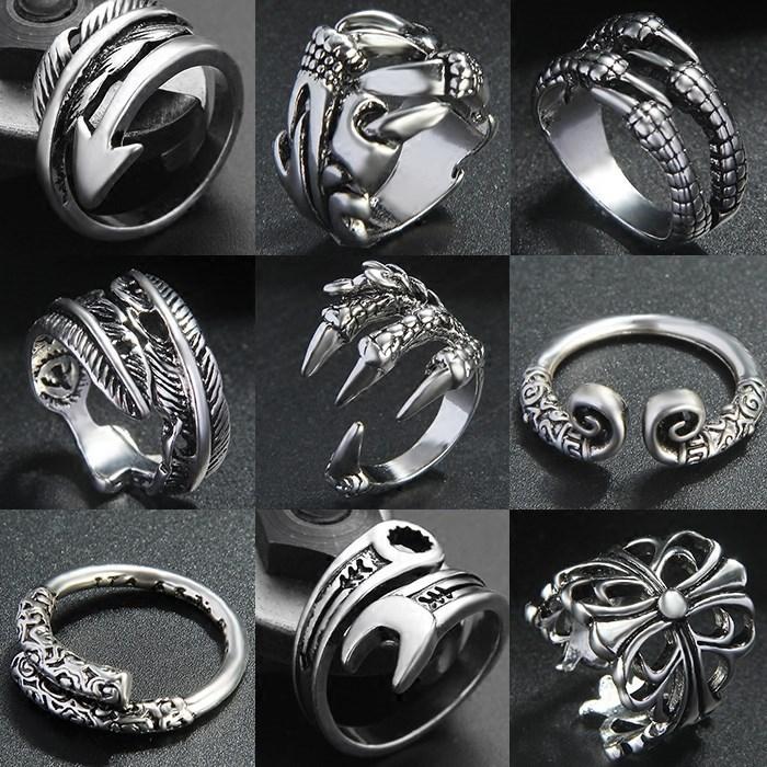 欧美戒指男士可转动时间罗马数字单身指环潮霸气个性指环戒子单身